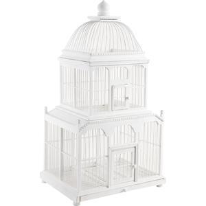 Photo ACA1080 : Cage en bambou laqué blanc