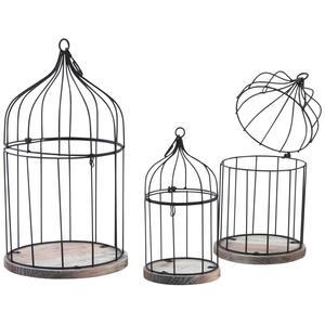 Photo ACA121S : Cages en métal laqué et bois