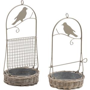 Photo AMA1530 : Willow and metal bird table
