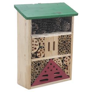 Photo AMI1100 : Maison à insectes en bois et bambou