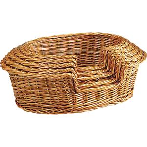 Photo ANI111S : Buff willow pet baskets