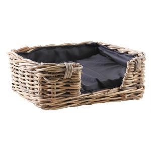 Photo ANI142SC : Grey pulut rattan dog baskets