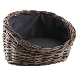 Photo ANI143SC : Grey pulut rattan dog baskets