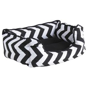 Photo ANI1450C : Cotton dog basket zigzag