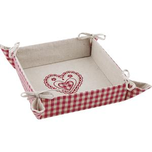 Photo CCO7030 : Square basket with heart design