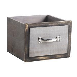 Photo CCO910SP : Corbeilles tiroirs carrées en bois teinté