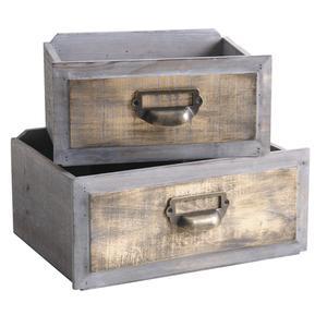 Photo CCO911SP : Corbeilles tiroirs en bois teinté
