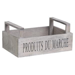 Photo CDA5600 : Corbeille en bois teinté Produits du Marché