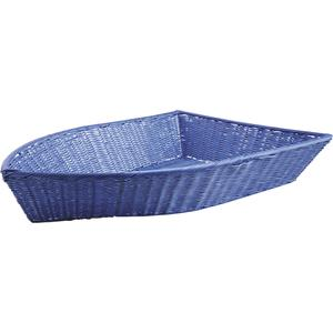 Photo CFA2590 : Boat-shaped polyrattan basket