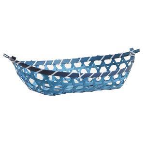 Photo CFA2660 : Corbeille bateau en bambou bleu