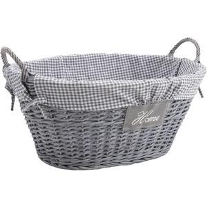Photo CLI1800C : Half grey willow clothes basket