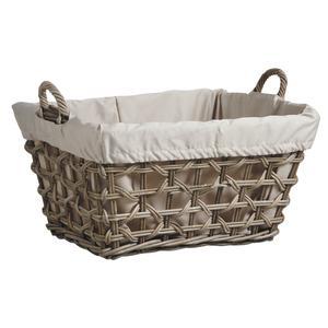 Photo CLI1840C : Grey pulut rattan clothes basket