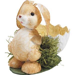 Photo CPQ1150 : Corbeille lapin de Pâques en papier corde