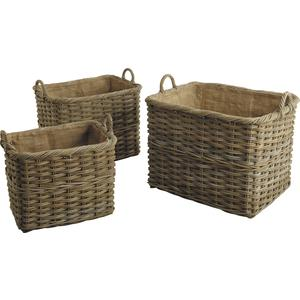Photo CRA342SJ : Pulut rattan log baskets