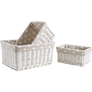 Photo CRA392SJ : White painted willow baskets