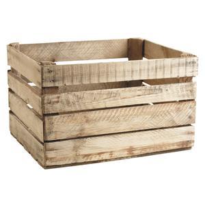 Photo CRA5390 : Caisse en bois rustique
