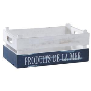 Photo CRA5520 : Caisse Produits de la Mer en bois patiné