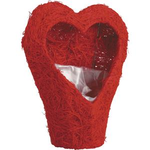 Photo CSV1120P : Corbeille coeur en sisal