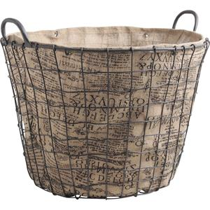 Photo CUT146SJ : Large metal utility baskets with removable jute