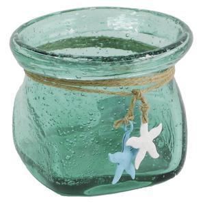 Photo CVA1530V : Vase en verre turquoise