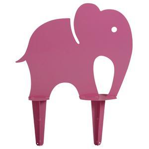 Photo DAN2191 : Petit éléphant rose en fer