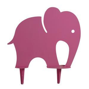 Photo DAN2192 : Grand éléphant rose en fer
