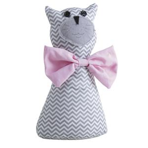 Photo DAN2490 : Cale-porte chat gris et rose