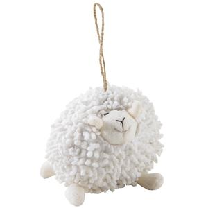 Photo DAN2511C : Mouton Shaggy à suspendre en coton blanc