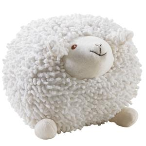 Photo DAN2512C : Mouton Shaggy en coton blanc 20cm
