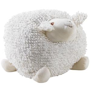 Photo DAN2513C : Mouton Shaggy en coton blanc 30cm