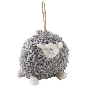 Photo DAN2521C : Mouton Shaggy à suspendre en coton gris