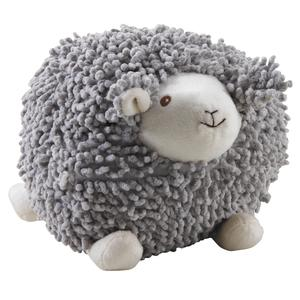 Photo DAN2522C : Mouton Shaggy en coton gris 20cm