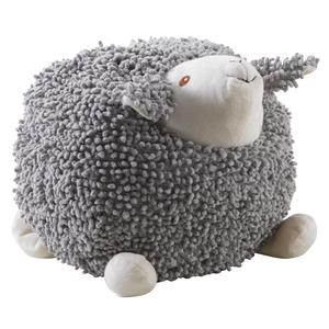 Photo DAN2523C : Mouton Shaggy en coton gris 30cm
