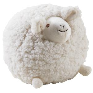 Photo DAN2532C : Mouton Shaggy en laine blanc 20cm