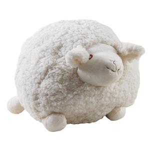Photo DAN2533C : Mouton Shaggy en laine blanc 30cm