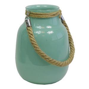 Photo DBO1941V : Vase en verre teinté turquoise