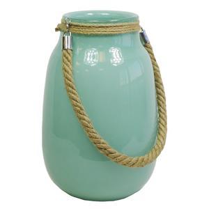Photo DBO1942V : Vase en verre teinté turquoise