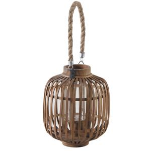 Photo DBO2600V : Bamboo and natural wood lantern