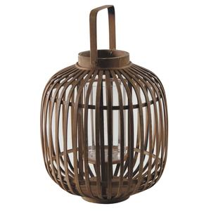 Photo DBO2620V : Round natural bamboo lantern