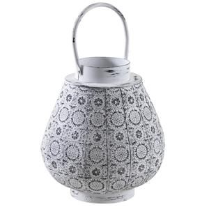 Photo DBO2650V : Old white metal lantern