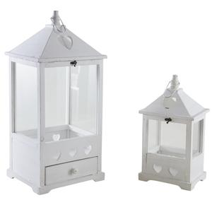 Photo DBO267SV : Whitewashed wood lanterns