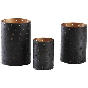 Photo DBO283S : Candle holders with gold inside