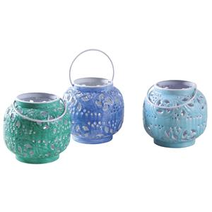 Photo DBO2850 : Patinated metal candle holder