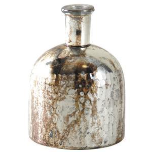 Photo DBR1060V : Vase flacon en verre antique