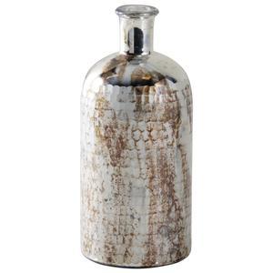 Photo DBR1070V : Vase flacon en verre antique