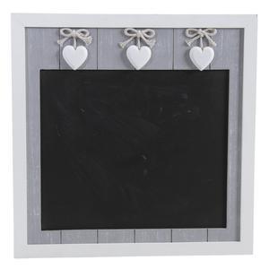 Photo DCA1910 : Tableau noir en bois avec coeurs
