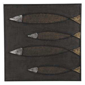Photo DCA1970 : Tableau Poissons en métal