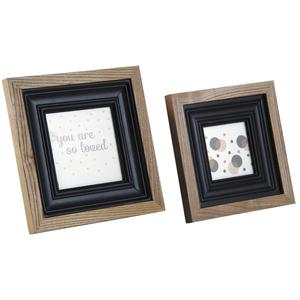 Photo DCA242SV : Square glass and wooden photo frames