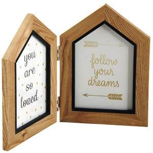Photo DCA2430V : Standing house double photo frame