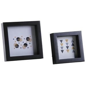 Photo DCA245SV : Square photo frames in black wood and glass